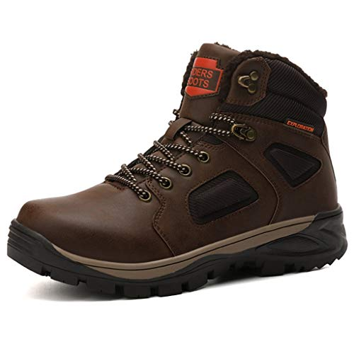 Zphy Men Lightweight High Rise Outdoor Boots Trekking Walking Shoes Non-Slip Wearable Comfortable Shockproof Comfortable Waterproof Christmas Best Gift (Color : Brown, Size : 43)