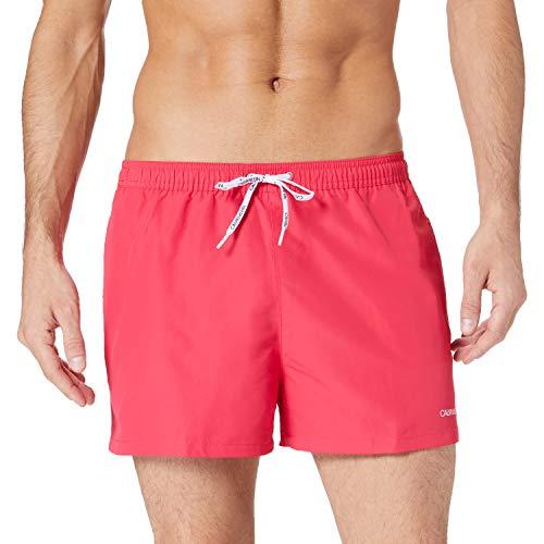 Calvin Klein Short Runner-Packable Baador para Hombre, Corazón Rosa, XL