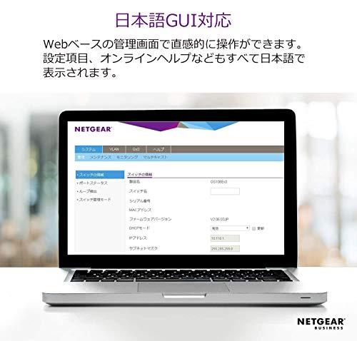 『NETGEAR 卓上型コンパクト アンマネージプラス スイッチングハブ GS116E ギガビット 16ポート VLAN QoS IGMP 静音ファンレス 省電力』の2枚目の画像