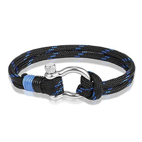 Bracelet Fashion Sport Camping Survival Bracelet Men Parachute Rope Clasps Handwoven Nylon Cord Bracelets And Cuffs As186