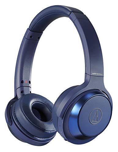 audio-technica ワイヤレスヘッドホン 重低音/Bluetooth マイク付き 最大70時間再生 密閉型 ブルー ATH-WS330BT BL