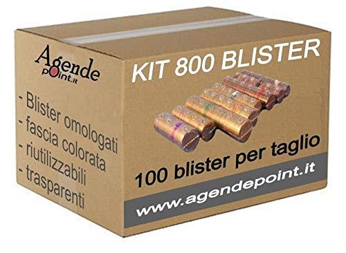 Blister contenitori per monete euro 800 pezzi assortiti (100 pz per taglio) UN OMAGGIO per ogni kit