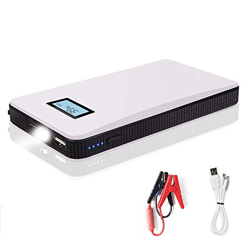 Read About HYM Car Emergency Jump Starter (up to 5L Gas) 400A Peak Portable Power Bank Battery Boost...