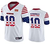 Maillot de Jeunesse 10# Maillot de Football américain Garoppolo, San Francisco 49ers Fans Rugby Jersey T-Shirts Top Short Training, Hip Hop Clothing Party Letters Numbers-White-S(160~175)
