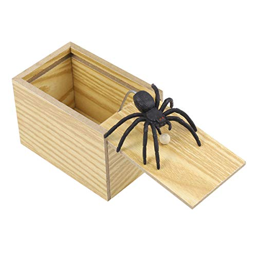 YeahiBaby Caja de Araña de Madera Caja de Broma Regalo para Niños