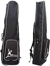 LEONARK Fencing Bag for Epee Saber and Foil - Portable Backpack for Fencing Sword Suit and Mask - Storage Bag for Both Adult and Child Fencers (Black A)