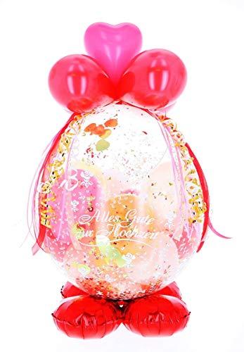 Jessis Geschenkeschmiede Befüllter Geschenkballon - das ideale Geschenk; Luxus-Version für Geburtstag, Hochzeit, Baby etc.