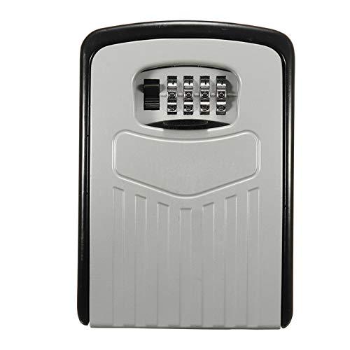Caja de llaves de almacenamiento con cerradura de combinación fija a la pared de caja de ocultación de llave de almacenamiento de seguridad de 4 dígitos, caja fuerte con llave de combinación.