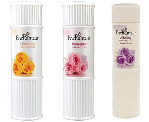 Enchanteur Perfumed Body Talcum Powder Charming, Romantic & Alluring Scent ( Pack of 3 X 100 g.) by Enchanteur