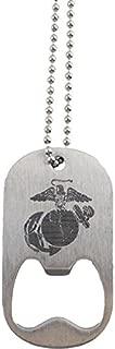 U.S. Marine Corps Eagle Globe and Anchor Dog Tag Bottle Opener