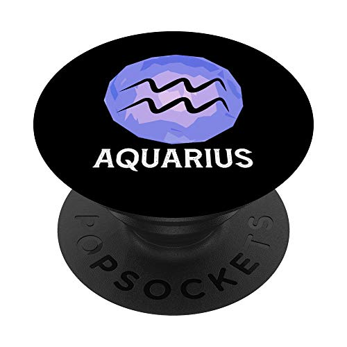 Gennaio Febbraio Oroscopo Acquario Stella Segno Zodiacale PopSockets PopGrip: Impugnatura per Telefoni Cellulari e Tablet Intercambiabile