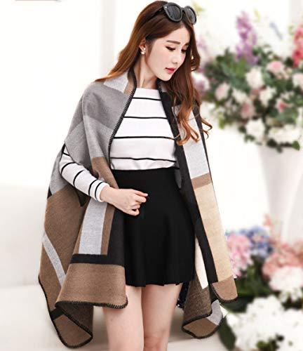 LYQZ Shawl Scarf Ladies, Doble Uso, versión Coreana de The Winter Winter, de Gran tamaño, Gruesa y cálida Chaqueta (Color : C)