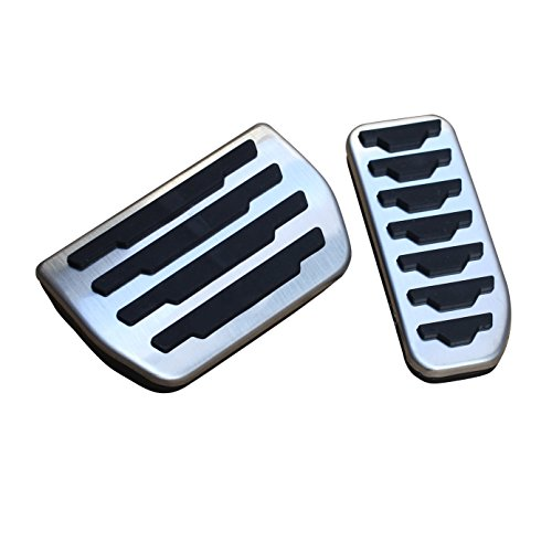AutoBig Gas Brake Pedal Cover Set for Evoque Velar Discovery Sport Jaguar XE XF E-Pace F-Pace