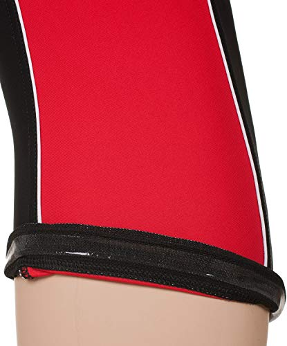Stanteks Radhose 3/4 Fahrradhose Radlerhose mit Sitzpolster Coolmax SR0060, Schwarz/Rot, M - 5
