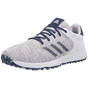 adidas Men's S2G Golf Shoe, FTWR White/FTWR White/Tech Indigo, 11 Medium US