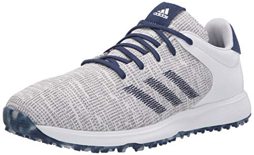 adidas mens S2g Golf Shoe, Ftwr White/Ftwr White/Tech Indigo, 10.5 US