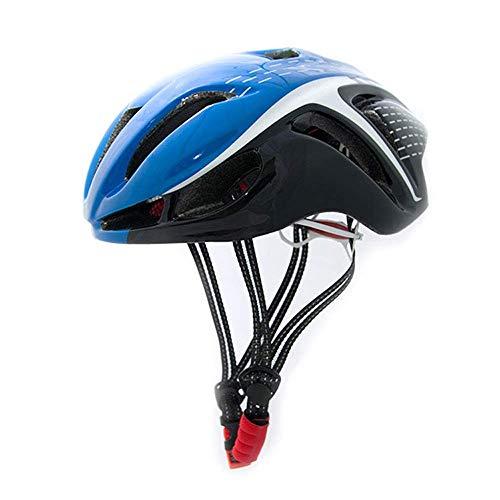 RH-HPC Fahrradhelm Helm Fahrradhelm 54-62cm Sicherheit Schutz MTB Fahrradhelm angespritzter Rennrad Helme for Männer Frauen (Farbe: 02Blue-Free) (Color : 02BlueFree)