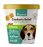NaturVet – Cranberry Relief Plus Echinacea – Helps Support a Healthy Urinary Tract & Immune System – 60 Soft Chews