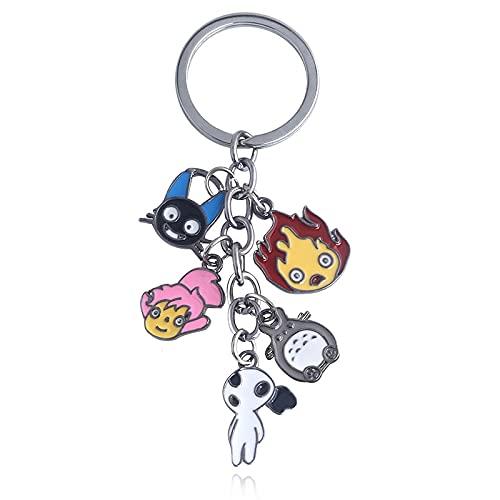 Puescn Portachiavi Anime Demon Slayer Metal Keychain Portachiavi a Sospensione a Mano Keychain Cosplay Jewelry Zaino Ornamento Portachiavi Regali Decorativi (Color : 2T16)
