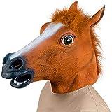 SUNKY 馬 コスプレ お面 マスク 仮面 被り物 天然ゴムラテックス製 リアル アニマルマスク 学院祭 パーティー クリスマス 仮装 うま なりきりマスク サラブレッド …