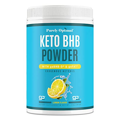 Premium Keto Bhb Exogenous Ketones Powder Supplement - Boosts Ketosis, Increases Energy & Focus, Manages Cravings, Supports Metabolism & Keto Diet - Lemon Flavor Keto Powder - 15 Servings by Purely Optimal Nutrition Inc.