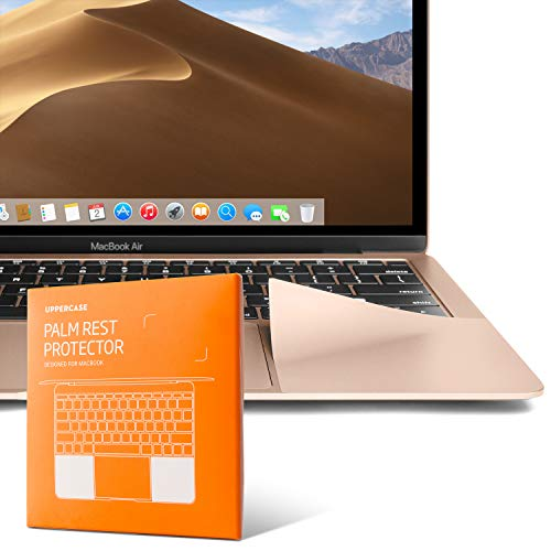UPPERCASE Premium Palm Rest Protector Skin Cover Set for Latest Generation MacBook Air 13' and Early 2020 Version (Rose Gold)