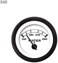 Aurora Instruments 901 Classic SAE Water Temperature Gauge (Black Modern Needles, Black Trim Rings, Style Kit Installed)
