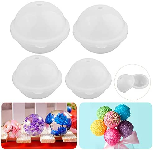 IPOTCH Silicone Large Round Sphere Balls Mould Resin Moulds Epoxy Resin Casting DIY Dried Flower Ornament Jewelry Making Mold Tool