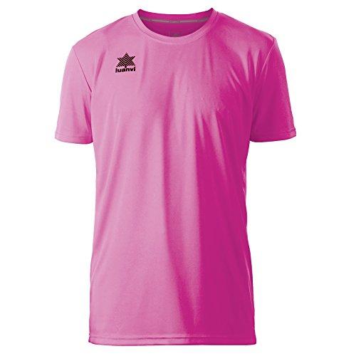Luanvi Pol Camiseta de Deportes Manga Corta, Hombre, Rosa, L