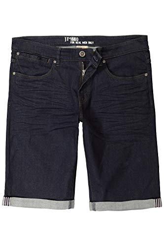JP 1880 Homme Grandes Tailles Bermuda en Jean, Taille élastiquée, Coton Bleu foncé 52 715497 94-52