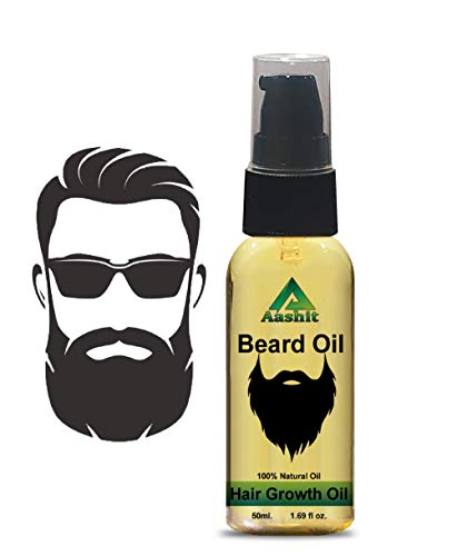 Aashit Beard Growth Oil For Men infused with and 4 Essential oils for Effective Beard Growth For Men, 50 ml