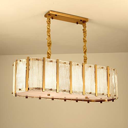 FGAITH kroonluchter in Scandinavische stijl, smeedijzer, bronskleurig, minimalistisch, creatieve persoonlijkheid, moderne woonkamerlamp, lamp voor slaapkamer, café, bedrijf van kleding