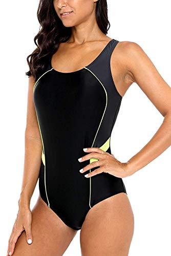 CharmLeaks Women Long Torso 1 Piece Swim Suits Racing Lap Swimmer Bathing Suit M