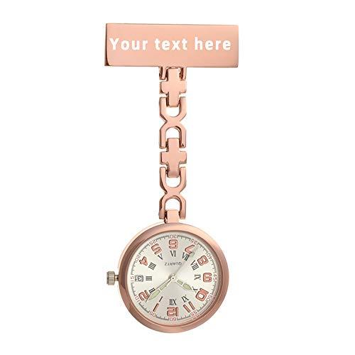 Personalisierte Krankenschwester Fob Uhr, Krankenschwester Anstecknadel Fob Uhr, Krankenpflege hängenden Arzt Anhänger Taschenuhr