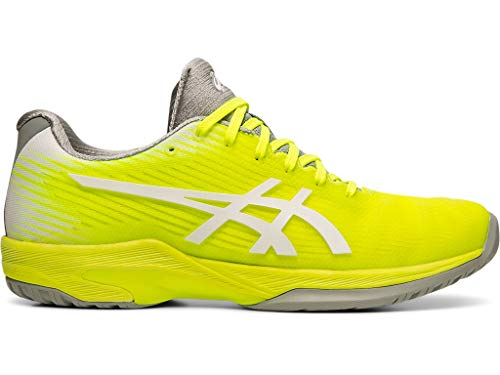 ASICS Women's Solution Speed FF Tennis Shoes, 6.5M, Safety Yellow/White