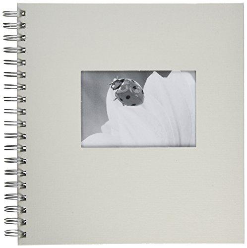 Pagna 12156-02 Passepartout-Spiralalbum 240 x 250 mm 50 Seiten, Leineneinband mit Passepartout Fotokarton weiß mit Pergamin, weiß