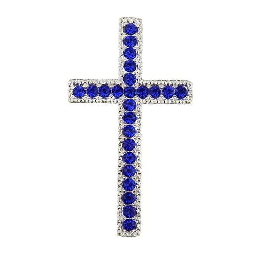 L Austria JEA006503, colgante curvado de metal con cruz brillante