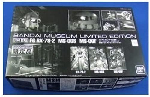 1 144 FG RX-78-2 & MS-06S & MS-06F Clear Farbe ver. Bandai Museum Limited Edition