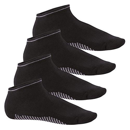 Celodoro Herren Sneaker Socken (4 Paar) - Schwarz 43-46