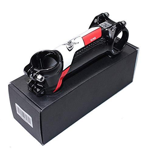 QYWJ Fahrrad Lenkervorbau Aluminiumlegierung und Carbon Fib Fahrrad Vorbauten, 31,8 MM 6 ° MTB Rennrad Vorbau 60/70/80/90/100/110/120 mm