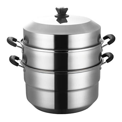 Cookware Pentolame in Acciaio Inox, 40 cm di Diametro Grande capacità Sicuro e Non tossico Pentola Famiglia Cena di Lavoro Banchetto Stoviglie (Size : 40 * 40 * 48CM)