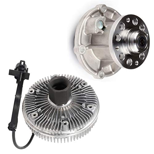 ECCPP Water Pump Engine Cooling Fan Clutch Kit fits for 2004 2007 for ford F-250 Super Duty 6.0L 125-2450 AW6058