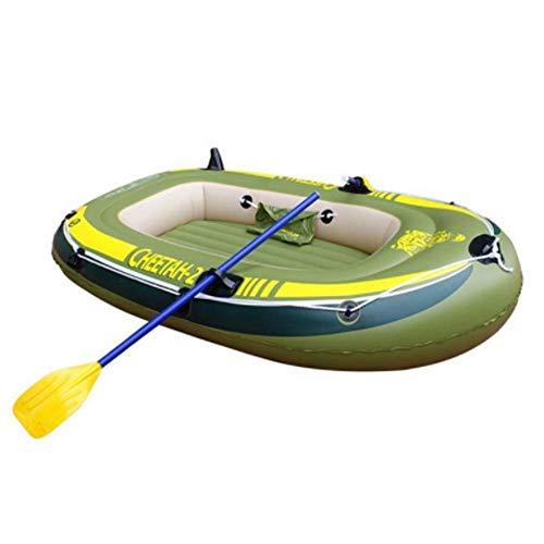 QSs- Bote de Goma para Kayak Plegable - Juego de Kayak Inflable para 4 Personas con Bote de Goma y 2 remos de plástico - Kayak de Pesca y Pesca recreativa