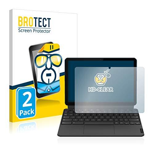 BROTECT Schutzfolie kompatibel mit Lenovo IdeaPad Duet Chromebook (im Querformat) (2 Stück) klare Bildschirmschutz-Folie