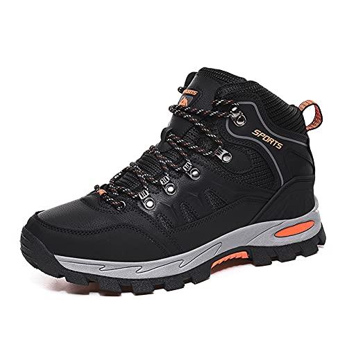 ERLINGO Scarpe da trekking Uomo Donna Leggero Outdoor Escursionismo Scarpe Alta Rise Trekking Arrampicata Pesca Scarpe Trail Running Scarpe Uomo, Nero (Nero ), 39.5 EU