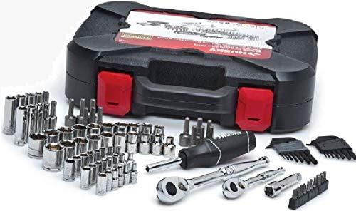 Mechanic Tools Automotive Professional Set (Husky 92-Piece). Box Tool Kit Stainless Steel with all the Accessories the Men Need. Perfect Gift for Mechanics. Includes Ratchets, Sockets, Hex Keys. New