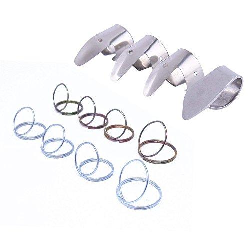 WANDIC - Juego de 9 púas de metal para dedo y 3 púas para