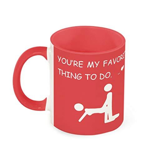 O4EC2-8 11 OZ Du bist Meine Lieblingsbeschäftigung Kaffeetasse Hochwertige Keramik Personalized Becher Tasse - Liebhabergeschenke Jungen Männer Geschenke 330ml