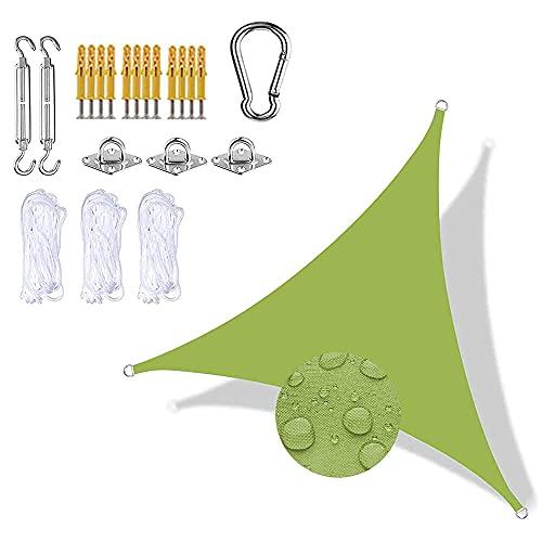 Toldo Vela de Sombra Cortavientos Transpirable Solar Protección Toldo Tela Resistente Rayos UV 95% para Balcon Terraza Camping Exterior jardín,Amarillo Verde 3x4x5m