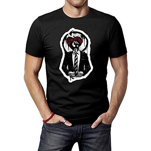 LIULOUHU Herren Rise Against Logo 1 T-Shirt for Men Round Neck Short Sleeve Tops